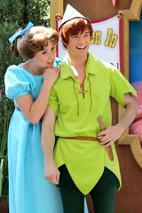 Wendy Darling and Peter Pan (Jade Monster) Tags: disneyland peterpan frontierland bigthunderranch wendydarling
