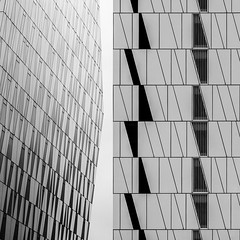 3XN. Bella Sky Hotel #4 (Ximo Michavila) Tags: urban white abstract building geometric glass lines architecture copenhagen square denmark grey hotel blackwhite pattern graphic perspective repetition cph architecturephotography archidose 3xn archdaily bellasky archiref ximomichavila