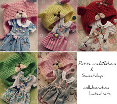 (Aya_27) Tags: bear cute hat set dress sweet bears blythe sweetdays crotched petitecreayastions