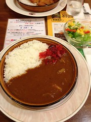 Lunch at UCC Cafe Plaza (mkats_) Tags: lunch salad cafe sapporo rice curry ucc curryandrice