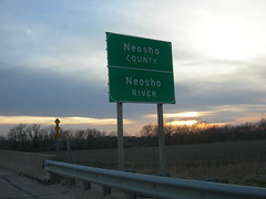 Neosho County Line (jimmywayne) Tags: kansas countysign chanute countyline neoshoriver neoshocounty
