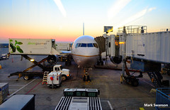 Chicago to Sao Paulo (mswan777) Tags: city travel sunset brazil sky chicago airplane airport nikon gate flight ohare itapema d5100