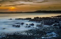 Ogmore Sunset (vlc3k) Tags: uk longexposure sunset sea sun beach southwales wales waves slowshutter ogmore valeofglamorgan bridgend ogmorebysea