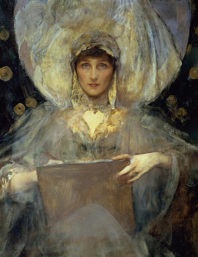 "No.2 - Lady Violet portrait by James Jebusa Shanon ""Lady Violet, The Duchess of Rutland"" 1896"
