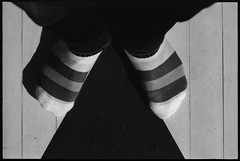 . (Ansel Olson) Tags: wood film feet socks triangle fuji floor graphic stripes painted diamond 1600 400 neopan pushed nikonf3 striped 85mmf14