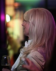 Blond (hrunge) Tags: party portrait woman netherlands face closeup availablelight candid dreaming blond portret hilversum vrouw gezicht 2013 canoneos50d ef50mmf12usm netwerklente2013