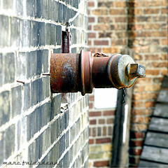 THING (marc falardeau) Tags: urban wall spring nikon rust thing sunday pipe april amateur libertyvillage bricksandmortar gayphotographer neversuburban