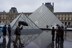 Le Louvre, a Rainy Day (eric ...) Tags: vacation paris france europe louvre lelouvre 2012 musedulouvre louvremuseum pyramidedulouvre louvrepyramid
