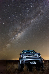Land Rover Discoverer 4 under milkyway (James Yu Photography) Tags: star au australia adelaide landrover southaustralia startrails milkyway discoverer mallala storbist discoverer4 詹姆斯视界