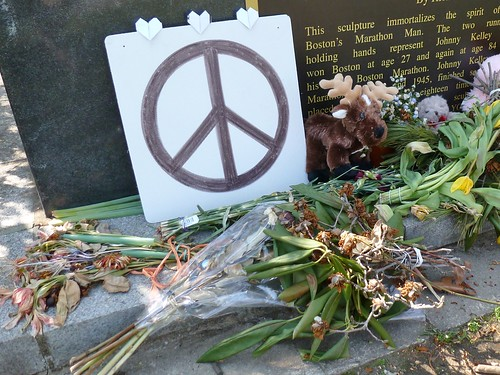 Peace sign with offerings
