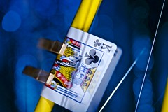 Bike motor (johnsinclair8888) Tags: blue blur bike bicycle yellow cards nikon dof shine bokeh sigma sparkle card sound d750 105macro macromondays