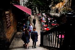 Passing By (Marta Marcato) Tags: street school girls london scale caf girl stairs walking uniform strada walk streetphotography londra ragazza scuola uniforme passeggiata ragazze camminare nikond7200