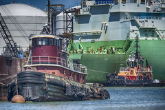 On the Mystic River (PAJ880) Tags: tug justice cynthia moran lng tanker bw gdf suez boston industry mystic river ma harbor