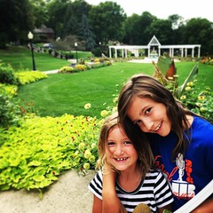 Ruthie and Stella at the Rose Garden