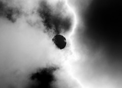 Dark/Light (Nini Kachakhidze) Tags: blackwhite blacksun clouds