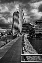 Sun and Cloud (pjbranchflower) Tags: salford bbc manchester quays bridge nikon d750 2485