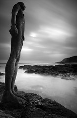 Taken from  'Another Place' - monochrome (Mark Leader) Tags: monochrome gormley composite beach sea coast longexposure another place