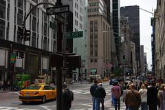 Manhattan Traffic (Gregor  Samsa) Tags: usa us nyc new york city newyorkcity may spring exploration walk walking stroll strolling traffic rush rushhour car cars cab taxi yellowcab yellowtaxi manhattan