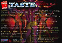 Taste Summer Ball Part Two (Mary Hawkins) Tags: flyer clubkid london 1998 summer butts 1900s terrible typography graphics 3d