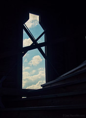 By the clouds, by the heaven (Joni Mansikka) Tags: sky heaven clouds stairs light kiikartorni rauma suomi finland peace