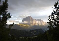 Misterious mountain (Nameless_One) Tags: sassolungo langkofel italy dolomiti dolomities evening beauty bolzano seceda clouds sky rocks saslonch 1935 cosina