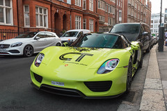 German Product (Beyond Speed) Tags: porsche 918 spyder supercar supercars automotive automobili nikon v8 hypercar london knightsbridge green