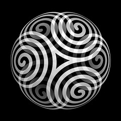 trisquel sphere (chrisinplymouth) Tags: spirality art pattern design spiral image whorl coil abstract cw69x artwork square symmetry curl geometric geometry symbol cw69sym sphere trisquel triskelion triplespiral digitalart spherical cw69spiral emd sdf cw69sq wbs