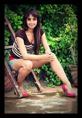 South Actress Sanjjanaa's Never give up tatoo (4)