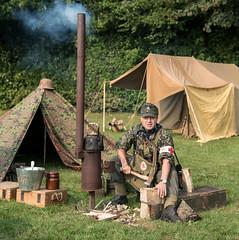 chop wood (laughingrasputin) Tags: militaryodyssey detling reenactors chopingwood firewood