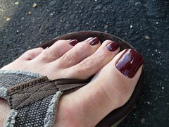 OPI - Skyfall (toepaintguy) Tags: male guy men man masculine boy nail nails fingernail fingernails toenail toenails toe foot feet sandal sandals polish lacquer gloss glossy shine shiny sexy fun daring allure gorgeous glitter maroon red brown creme skyfall james bond
