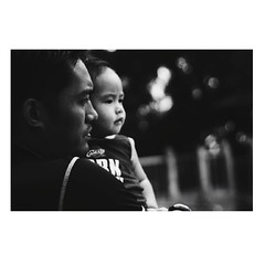 Father and Son.   8-27-16 #BnW #ig_pilipinas #kd_blackandwhite #monochrome (MicahNacar) Tags: instagramapp square squareformat iphoneography uploaded:by=instagram blackandwhite teampilipinas