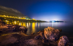 Plat, Croatia. (Edgar Myller) Tags: croatia hrvatia plat coeast rock stone beach sea water night time light lights laps street stars rocky mountains kroatia