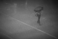 Drops (michael.veltman) Tags: wacker drive chicago illinois rain monochrome man umbrella street
