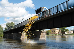 Rubber Ducky, You're the One (Ryan Ojibway) Tags: rubberducky duck yellow race rock river fortatkinson wi wisconsin boys girls club