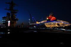 (aeroman3) Tags: fa18hornet christmaslights flightdeck aircraftcarrier ussgeorgehwbushcvn77 navy usnavy norfolk va unitedstates