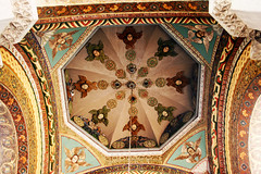 Ancient Apostolic church in Armenia (chrisdingsdale) Tags: ancient architecture bible building christianity church cross madonna ceiling ornament marble armenia armenian ejmiatsin echmiadzin etchmiadzin cathedral oldest saintgrigorytheilluminator cloister court pattern picture icon cultural culture destinations wall europe historic history holy indigenous obsolete old ornaments past religion religious saint sanctuary spirituality tourism traditional travel vault vintage green blue red yellow colors colorful paint painting drow brown curtain interior apostolic