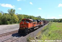 BNSF 9193 Leads EB Manifest Shawnee, KS 9-17-16 (KansasScanner) Tags: shawnee zarah kansas bnsf railroad train