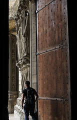 Exitus (Lawrence OP) Tags: chartres cathedral silhouette portal door sculpture apostles man shadow unesco south gothic hastings