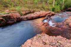 Buley Rockhole under an orange cloud (Louise Denton) Tags: buley rockhole swimming litchfield nationalpark wildswimming water landscape waterfall cascades outback nt australia darwin