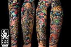 andreee (Veracruz Tattoo) Tags: new school tattoo veracruz tatuaggio space laser astronaut spazio mummy mummia spaceship monster