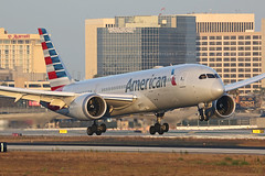 N805AN American Airlines 787 at LAX (ColinParker777) Tags: american aal aa airlines airways boeing 787 788 7878 b787 dreamliner landing dusk jetwash jetblast marriott golden hour lighting pilots engines approach finals runway klax lax los angeles california ca westchester air plane airplane aeroplane aircraft aviation aviate flying flight fly camera photo photography 200400 canon 5d 5d3 5diii 5dmk3 6dmkiii lens pro professional