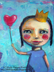 Love Baloon - Kylie Pepyat-Fowler (Kylie Fowler AKA: Blissful Pumpkin) Tags: portraits bigeyes artwork mixedmedia whimsical howtodraw kyliefowler kyliepepyatfowler blissfulpumpkin kyliefowlercom howtopaintbigeyedgirlskyliepepyatkyliepepyatfowler