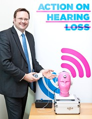"Stephen Mosley MP tests personal music player volume to raise awareness of National Tinnitus Week • <a style=""font-size:0.8em;"" href=""http://www.flickr.com/photos/51035458@N07/8452214579/"" target=""_blank"">View on Flickr</a>"