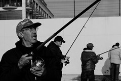 (Taygun AHISKALI) Tags: life street city sea portrait blackandwhite bw white black contrast turkey blackwhite fishing aperture minolta candid sony streetphotography streetscene stranger fisher 35105mmf3545 35105 oldversion a580
