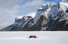 catch of the day (free spirit *) Tags: winter lake snow mountains rockies hut icefishing banffnationalpark lakeminnewanka dsc8163 waterofthespirits
