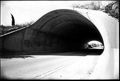 tunnel - Nikon F801s TriX 400 Stand Dev Rodinal 1+100 (Manu LHOSTE) Tags: stand nikon trix nb dev 20mm rodinal f28 argentique f801s blackwhitephotos