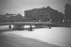 (sashario) Tags: bridge winter blackandwhite bw cold love russia walk spb