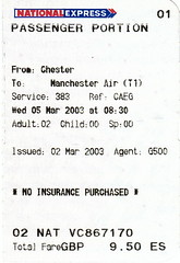 Tix03V National Express Manchester 2003 (CanadaGood) Tags: europe uk england bus ticket ephemera 2003 canadagood colour color red blue 2000s scanned