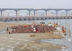 New Sadhus Bathing In Ganges, Maha Kumbh Mela, Allahabad, India (Eric Lafforgue) Tags: travel bridge people india tourism water festival river outdoors photography togetherness bath asia day adult religion ceremony n bank celebration event indie spirituality bathing riverbank indië hinduism pure pilgrimage religiouscelebration pilgrim inde traditionalculture hodu sangam humaninterest allahabad socialgathering haridwar purification indland gangesriver yamunariver インド uttarpradesh realpeople भारत kumbhmela traveldestinations colorimage indianculture הודו uttarakhand 5233 largegroupofpeople highangleview 인도 indiansubcontinent الهند celebrationevent traditionalceremony индия indianethnicity ινδία ھندوستان hndkastan հնդկաստան индија