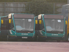Brand New Arriva Southend Optare Versa's (Steven Quy) Tags: new england bus london up pair group line brand versa essex arriva optare arrivasoutherncounties arrivasouthend 62reg kx62jjf kx62fo